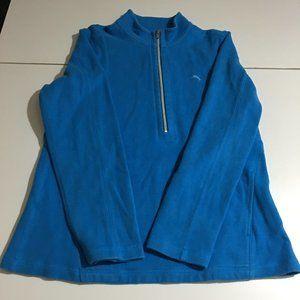 Tommy Bahama Mens Large Sweatshirt Blue 1/2 Zip